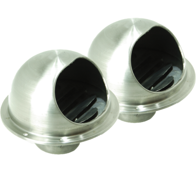 2 x V2 Stainless Steel Vents